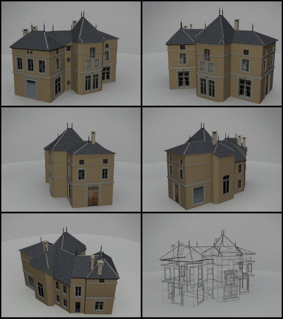 Williamprasen3d maison 3d rendu le 20 d cembre 2012 for Modelisation maison 3d